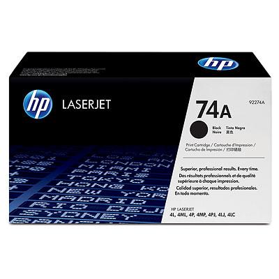TONER HP 74 A PRETO P/ IMPRESSORAS: LASERJET 4L 4ML 4P 4 MP